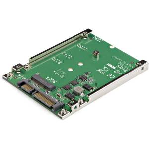 StarTech.com M.2 SATA SSD to 2.5in SATA Adapter Converter - Convert an M.2 SSD into a 7mm high 2.5in SATA 6Gbps Open Frame SSD