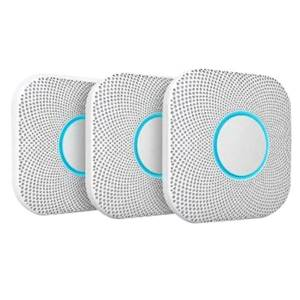 Nest Google Nest Carbon Monoxide Detector, White, Pack Of 3