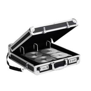 Vaultz Locking CD/DVD Binder Case, 200-Disc Capacity, Black