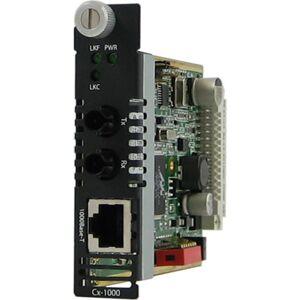 Perle C-1000-M2ST05 Unmanaged Media Converter - 1 x Network (RJ-45) - 1 x ST Ports - 10/100/1000Base-T, 1000Base-SX - Internal