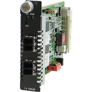 Perle C-1000MM-M2LC05 Transceiver - 2 x LC Ports - DuplexLC Port - 1000Base-SX - Internal