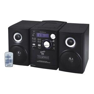 Supersonic SC-807 Micro Hi-Fi System - iPod Supported - CD Player, Cassette Recorder - 1 Disc(s) - 1 Cassette(s) - AM, FM - CD-DA, MP3 - USB - Remote