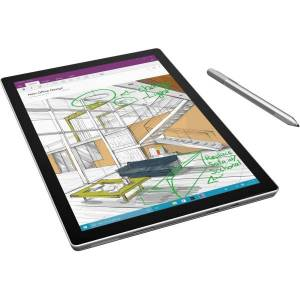 "Microsoft Surface Pro 4 Tablet - 12.3"" - 16 GB RAM - Windows 10 Pro 64-bit - Silver - Intel Core i7 6th Gen microSD Supported - 2736 x 1824 - PixelSen"