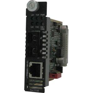 Perle C-1110-M2SC05 Media Converter - 1 x Network (RJ-45) - 1 x SC Ports - 1000Base-SX, 10/100/1000Base-T - Internal