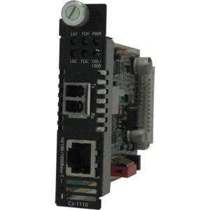 Perle C-1110-M2LC05 Media Converter - 1 x Network (RJ-45) - 1 x LC Ports - DuplexLC Port - 10/100/1000Base-T, 1000Base-SX - Internal