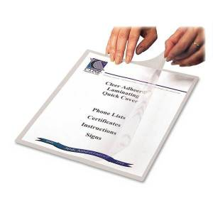 """C-Line Cleer-Adheer Laminated Film Covers, 8 1/2"""" x 11"""", Clear, Box Of 25"""