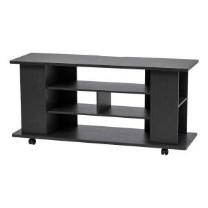 """IRIS Large TV Stand With Wheels, 22-3/8""""H x 46-7/8""""W x 15-5/16""""D, Black"""