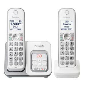 Panasonic Cordless Phone System With Answering Machine, White, KX-TGD432W