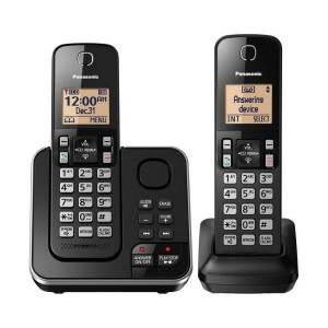Panasonic DECT 6.0 Expandable Cordless Phone System With Answering Machine And 2 Handsets, KX-TGC362B