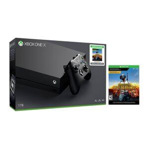 Microsoft Xbox One X Console With PlayerUnknown's Battlegrounds Bundle, 1TB, Black