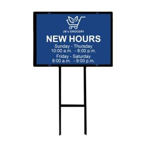 """Taylor Custom Full-Color Aluminum Outdoor Sign With Holder, 2-Sided, 18"""" x 24"""""""