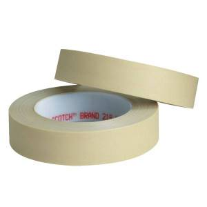 """3M 218 Masking Tape, 3"""" Core, 0.5"""" x 180', Green, Pack Of 72"""