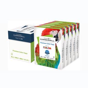 "Hammermill Premium Color Copy Print Paper, Letter Size (8 1/2"" x 11""), 100 Bright, 28 Lb, Photo White, 500 Sheets Per Ream, Case of 5 Reams"