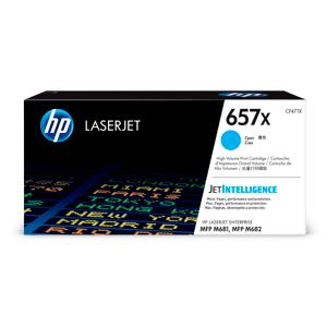 HP 657X (CF471X) Toner Cartridge - Cyan - Laser - High Yield - 23000 Pages - 1 Each