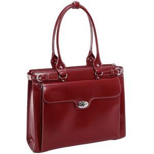 McKleinUSA McKlein Winnetka Italian Leather Briefcase, Red
