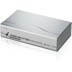 Aten 4 port Video Splitter - 1 x Computer, 4 x Monitor - 1920 x 1440 @ 60Hz - SVGA, XGA
