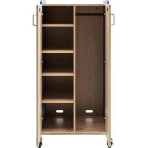 "Safco Whiffle Double-Column 4-Shelf Rolling Storage Cart, 60""H x 30""W x 19-3/4""D, Spectrum Blue"