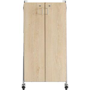 "Safco Whiffle Double-Column 4-Shelf Rolling Storage Cart, 60""H x 30""W x 19-3/4""D, Gray"
