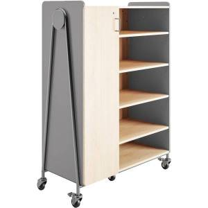 """Safco Whiffle Triple-Column 13-Drawer Rolling Storage Cabinet, 60""""H x 43-1/4""""W x 19-3/4""""D, Gray"""
