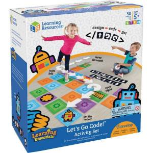 Learning Resources Ages 5+ Let's Go Code Activity Set - Theme/Subject: Fun - Skill Learning: Gross Motor, Visual, Critical Thinking, Sequential Thinki