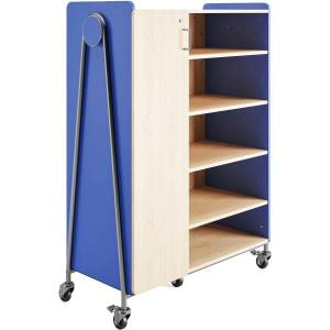 """Safco Whiffle Triple-Column 13-Drawer Rolling Storage Cabinet, 60""""H x 43-1/4""""W x 19-3/4""""D, Spectrum Blue"""
