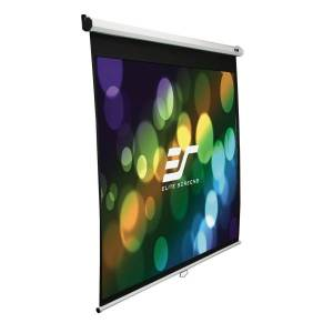 Elite Screens Manual Series - 135-INCH 4:3, Pull Down Manual Projector Screen with AUTO LOCK, Movie Home Theater 8K / 4K Ultra HD 3D Ready, 2-YEAR WAR