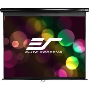 Elite Screens M136UWS1 Manual Pull Down Projector Screen