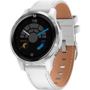 Garmin Legacy Saga GPS Watch - Touchscreen - Bluetooth - Wireless LAN - GPS - 168 Hour - Round - 1.57 - Silver, White - Glass Lens, Stainless Steel Be