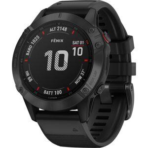 "Garmin fÄnix 6 GPS Watch - Wrist - 32 GB - 1.3"" - 260 x 260 - Touchscreen - Bluetooth - Wireless LAN - GPS - 336 Hour - Round - 1.85"" - Black Ca"