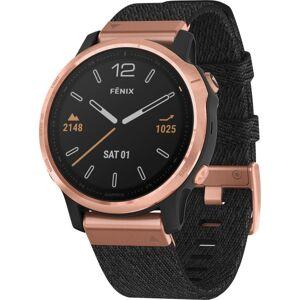 "Garmin finix 6S Sapphire GPS Watch - Touchscreen - Bluetooth - Wireless LAN - GPS - 480 Hour - Round - 1.65"" - Rose Gold Case - Heathered Black Band -"