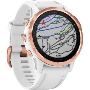 "Garmin fÄnix 6S Pro GPS Watch - Wrist - Touchscreen - Bluetooth - Wireless LAN - GPS - 480 Hour - Round - 1.65"" - Rose Gold Case - White Band -"