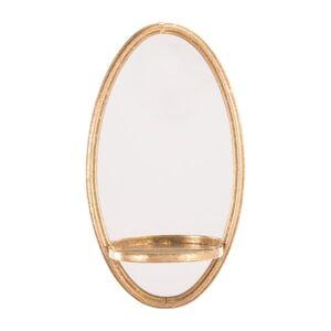 """Zuo Modern Ogee Mirrored Wall Shelf, 39 7/16"""" x 12"""", Gold"""