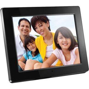"""Aluratek 12"""" Digital Picture Frame, 9.3"""" x 11.5"""" x 1.5"""", Black, ADMPF512F"""