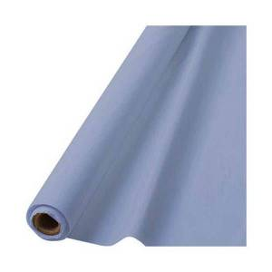 """Amscan Plastic Table Cover Roll, 40"""" x 100', Pastel Blue"""