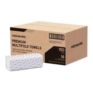 Highmark Premium Multi-Fold 1-Ply Paper Towels, 150 Sheets Per Pack, Pack Of 16 Packs