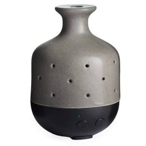 """Airome Ultrasonic Essential Oil Diffusers, 7-1/2"""" x 5-1/2"""", 8.5 Fl Oz, Gray Stone, Pack Of 6 Diffusers"""