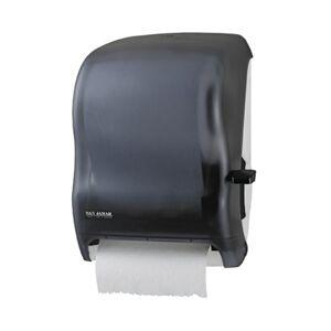 "San Jamar Lever-action Jam-resistant Towel Dispenser - Roll Dispenser - Roll - 16.5"" Height x 12.9"" Width x 9.5"" Depth - Plastic - Black Pearl - Durab"