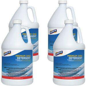 Genuine Joe Premium Dish Detergent - Concentrate Liquid - 128 fl oz (4 quart) - 4 / Carton - Blue