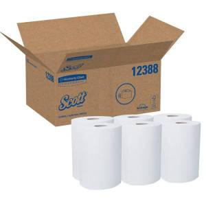 Scott Slimroll 1-Ply Paper Towels, 70% Recycled, Pack Of 6 Rolls