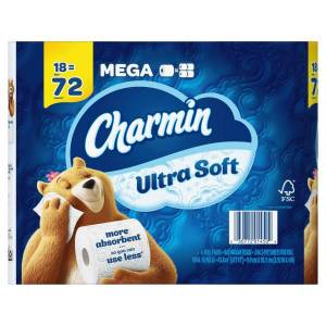 Charmin Ultra Soft 2-Ply Toilet Paper, 264 Sheets Per Roll, Pack Of 18 Rolls