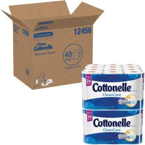 Kimberly-Clark Cottonelle Ultra Soft 1-Ply Toilet Paper, 12 Rolls Per Pack, Pack Of 4 Packs