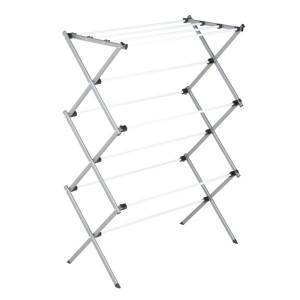 """Honey Can Do Honey-Can-Do Deluxe Knockdown Metal Drying Rack, 42 1/16""""H x 14 3/16""""W x 29""""D, White"""