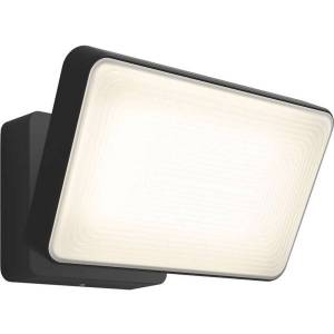 """Philips Discover Outdoor Floodlight - 6"""" Height - 6.3"""" Width - 15 W LED Bulb - 2300 Lumens - Metal, Synthetic, Aluminum - Black, White, Warm White, Co"""