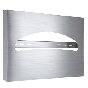 """Alpine Industries Half-Fold Toilet Seat Cover Dispenser,11.8""""x15.7""""x2"""", Stainless Steel Brushed"""