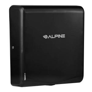Alpine Willow Commercial High-Speed Automatic 120V Electric Hand Dryer, Black