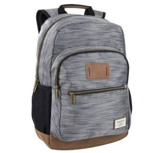 """Trailmaker Dome Backpack With 17"""" Laptop Pocket, Gray/Brown"""