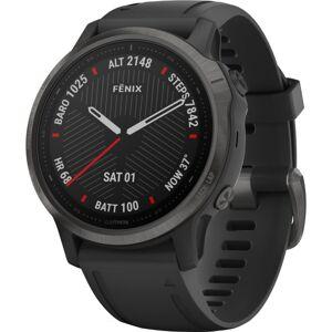 """Garmin f�nix 6S Pro GPS Watch - Wrist - 32 GB - 1.2"""" - 240 x 240 - Touchscreen - Bluetooth - Wireless LAN - GPS - 480 Hour - Round - 1.65"""" - Bla"""