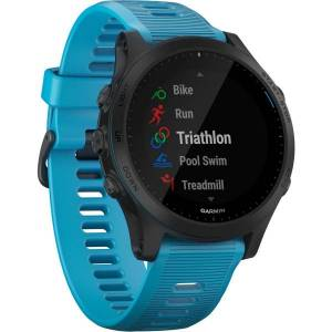 """Garmin Forerunner 945 GPS Watch - Wrist - 1.2"""" - 240 x 240 - Bluetooth - Wireless LAN - GPS - 336 Hour - Round - Blue"""
