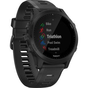 Garmin Forerunner 945 GPS Watch - Wrist - Bluetooth - Wireless LAN - GPS - 336 Hour - Round - Black - Glass