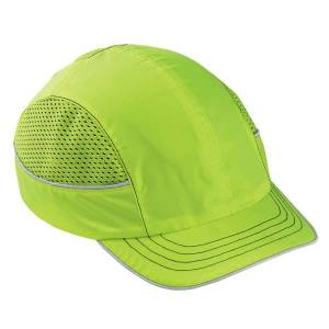 Ergodyne Skullerz Bump Cap, Short Brim, Lime, 8950